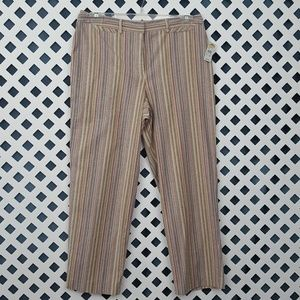 NWT Talbots Pastel Penstripe Pants | 14P